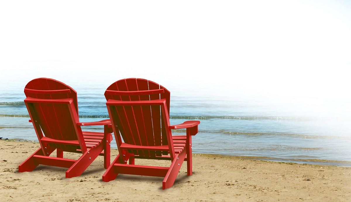 beach chairs by the shore