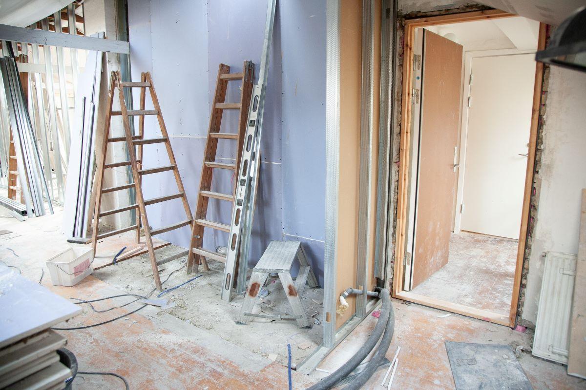 home renovation on going