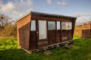 brown tiny house